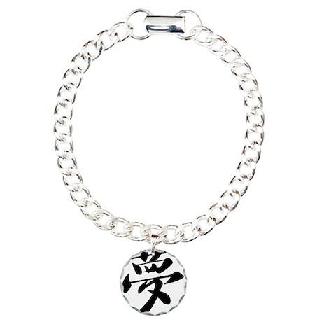 Kanji Dream Charm Bracelet, One Charm