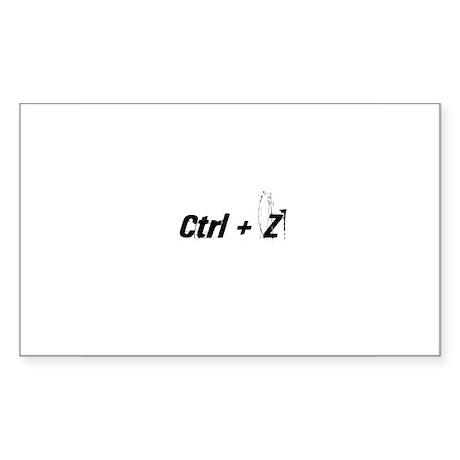 Ctrl + Z Rectangle Sticker