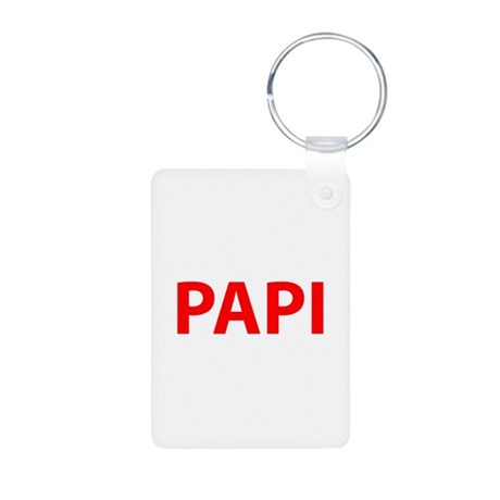 Papi Aluminum Photo Keychain