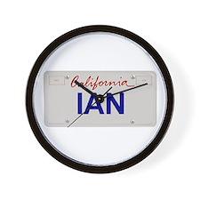 California Ian Wall Clock