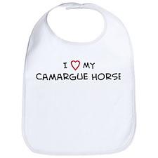 I Love Camargue Horse Bib