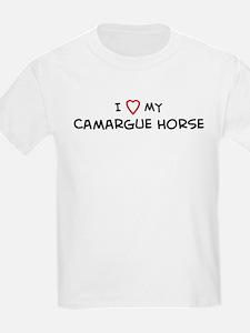 I Love Camargue Horse Kids T-Shirt