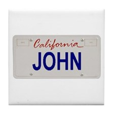 California John Tile Coaster