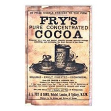 Vintage Fry's Cocoa Ad Postcards (Package of 8)