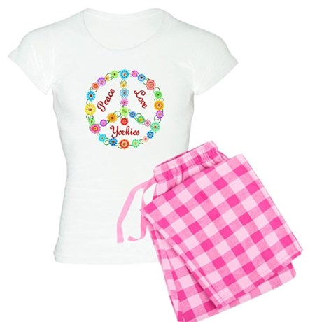 Peace Love Yorkies Women's Light Pajamas