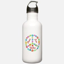 Peace Love Yorkies Water Bottle