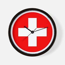 Switzerland Roundel Wall Clock