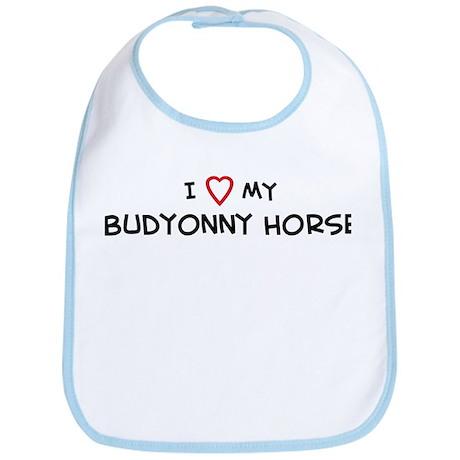 I Love Budyonny Horse Bib