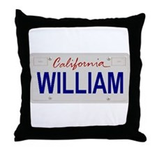 California William Throw Pillow