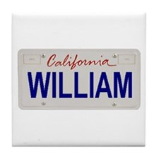 California William Tile Coaster