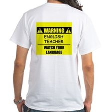 WARNING: English Teacher Shirt