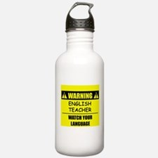 WARNING: English Teacher Water Bottle