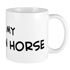 I Love buckskin Horse Mug