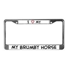 I Love Brumby Horse License Plate Frame