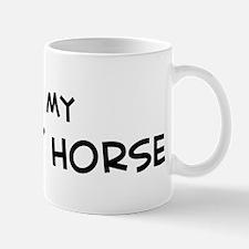 I Love Brumby Horse Mug