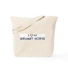 I Love Brumby Horse Tote Bag