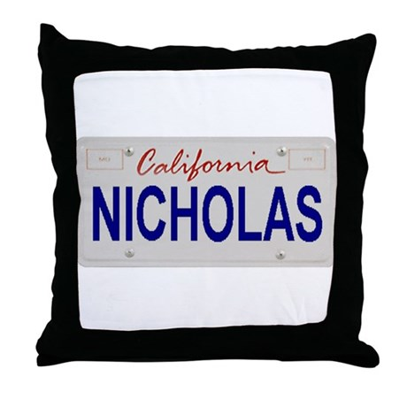 California Nicholas Throw Pillow