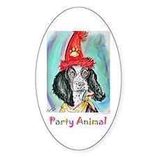 Party Animal, Fun, Dog, Decal