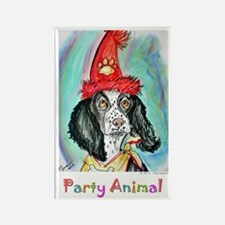 Party Animal, Fun, Dog, Rectangle Magnet