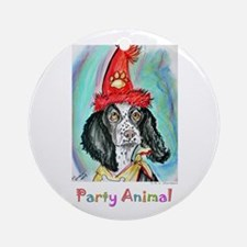 Party Animal, Fun, Dog, Ornament (Round)
