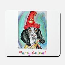 Party Animal, Fun, Dog, Mousepad