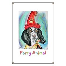 Party Animal, Fun Dog, Banner