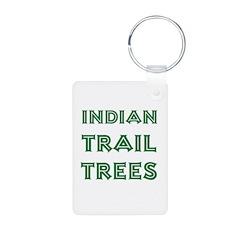 Indian Trail Trees Aluminum Photo Keychain