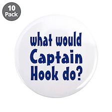 "Captain Hook 3.5"" Button (10 pack)"