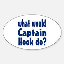 Captain Hook Sticker (Oval)