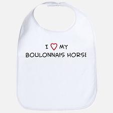 I Love Boulonnais Horse Bib