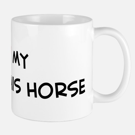 I Love Boulonnais Horse Mug