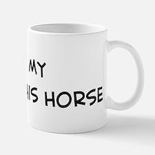 I Love Boulonnais Horse Small Small Mug
