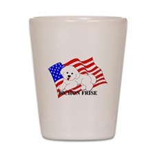 Bichon Frise USA Shot Glass