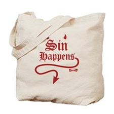 Sin Happens Tote Bag