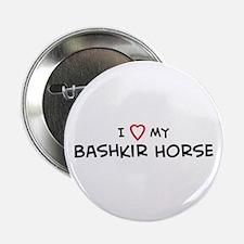 I Love Bashkir Horse Button