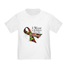 For My Heroes Autism Ribbon T