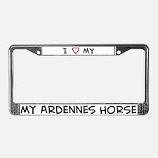 I Love Ardennes Horse License Plate Frame