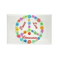 Peace Love Weimaraners Rectangle Magnet