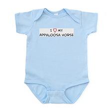 I Love Appaloosa Horse Infant Creeper