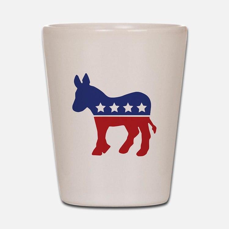 Democrat Donkey Shot Glass