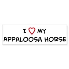I Love Appaloosa Horse Bumper Bumper Sticker