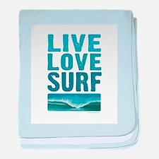 Live Love Surf - baby blanket