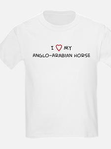 I Love Anglo-Arabian Horse  Kids T-Shirt