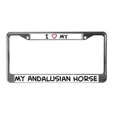 I Love Andalusian Horse License Plate Frame