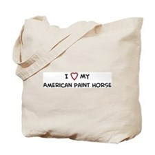 I Love American Paint Horse Tote Bag