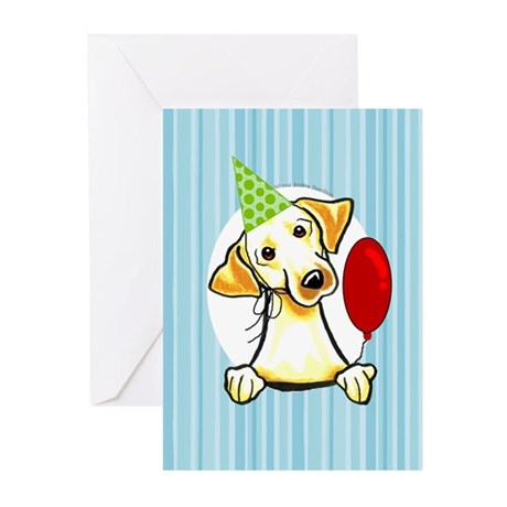 Funny Yellow Lab Birthday Greeting Cards (Pk of 10