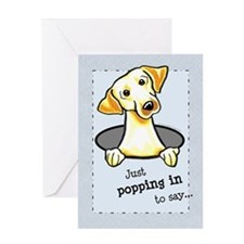 Yellow Lab Lover Greeting Card