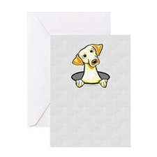 Yellow Lab Hole Greeting Card