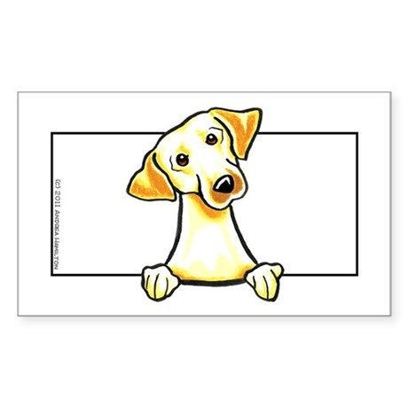 Yellow Lab Box Sticker (Rectangle)
