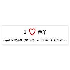 I Love American Bashkir Curly Bumper Bumper Sticker